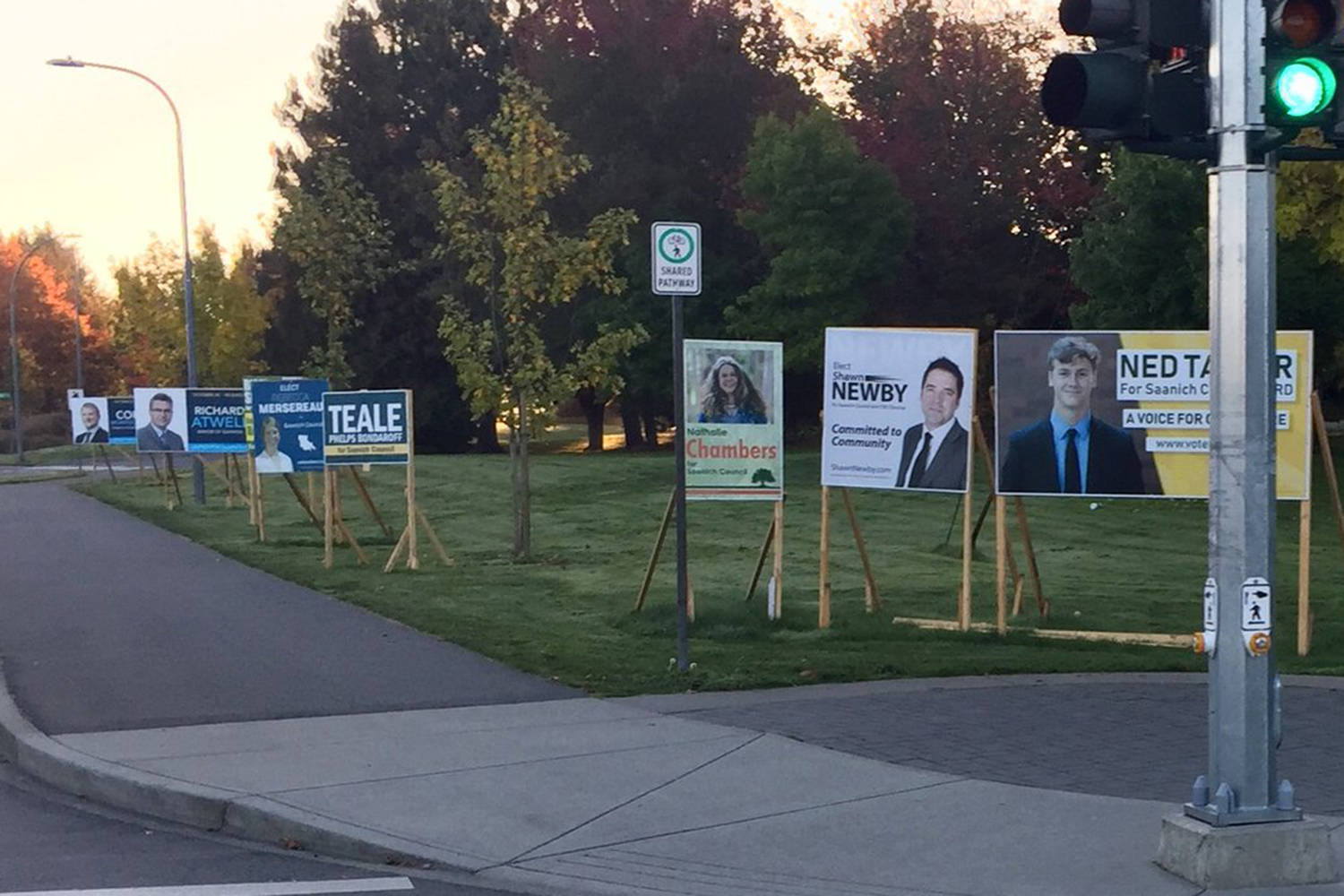 saanich council sounds off on election sign debate saanich news