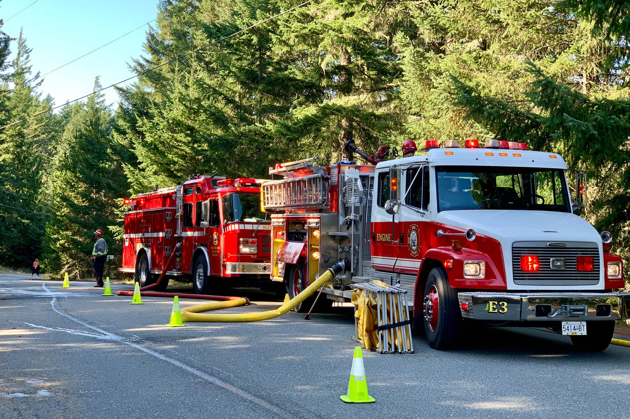 Self-igniting vegetation possible cause of East Sooke's wildfire