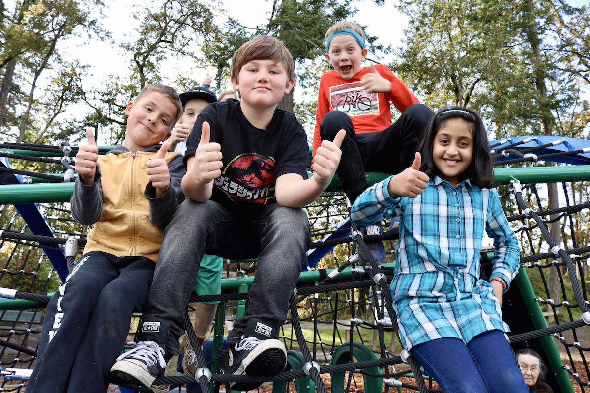 New accessible playground opens at View Royal's Eagle View Elementary School