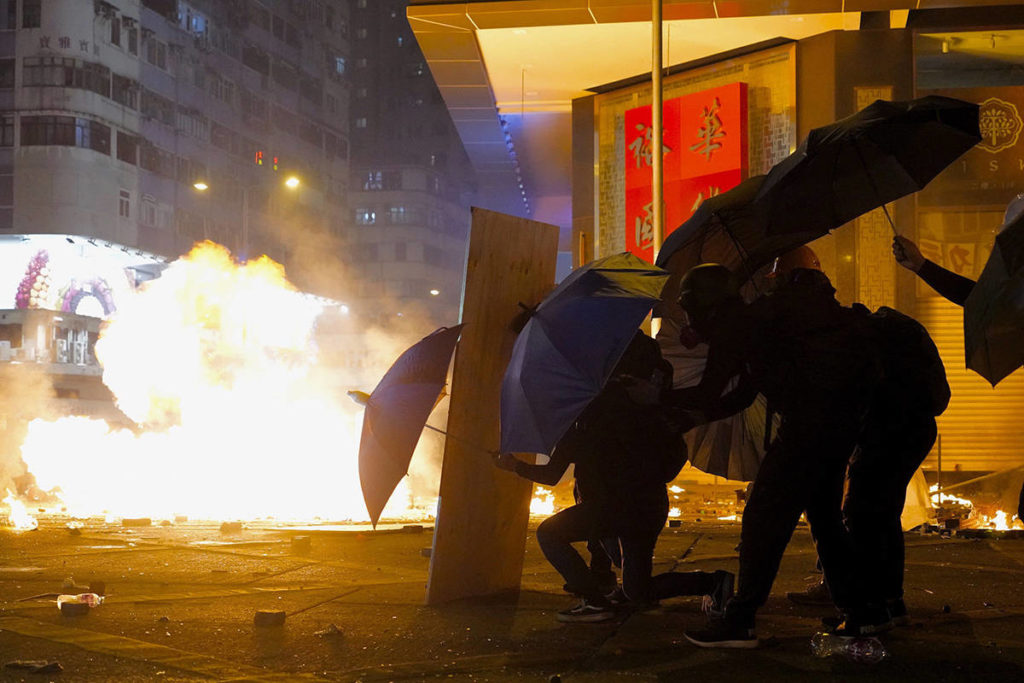Eight UVic students in Hong Kong amid tense protests, university siege - Saanich News