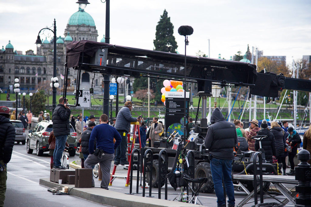 Film crews in downtown Victoria producing upcoming TV series - Saanich News