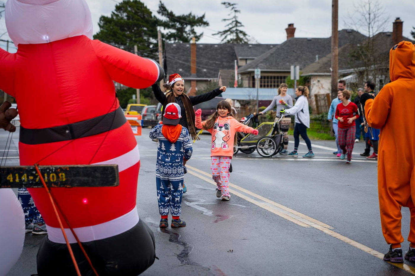 Residents raise food, funds for those in need with Pyjama Prance in Esquimalt