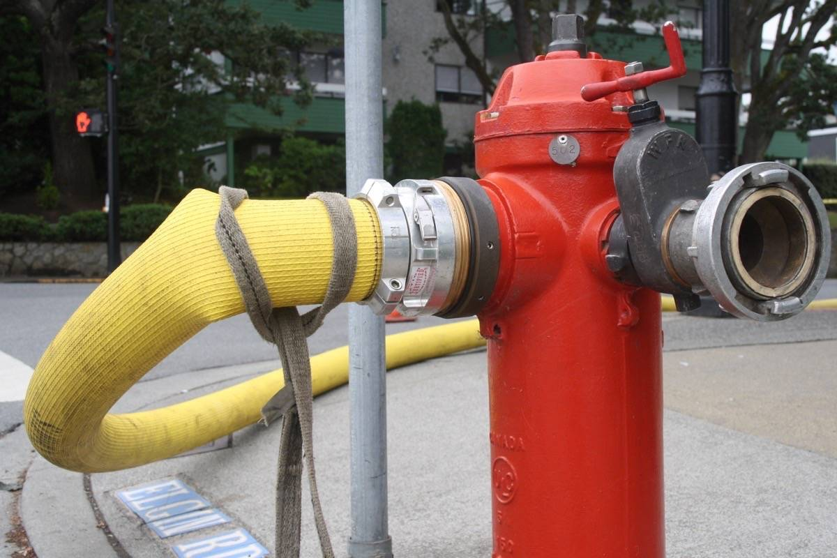 Fire hydrant testing in Saanich may cause temporary water discolouration