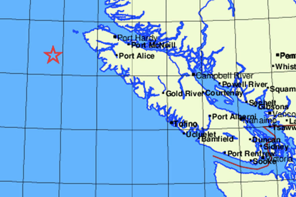 Magnitude-4.9 earthquake detected off west coast of Vancouver Island – Saanich News