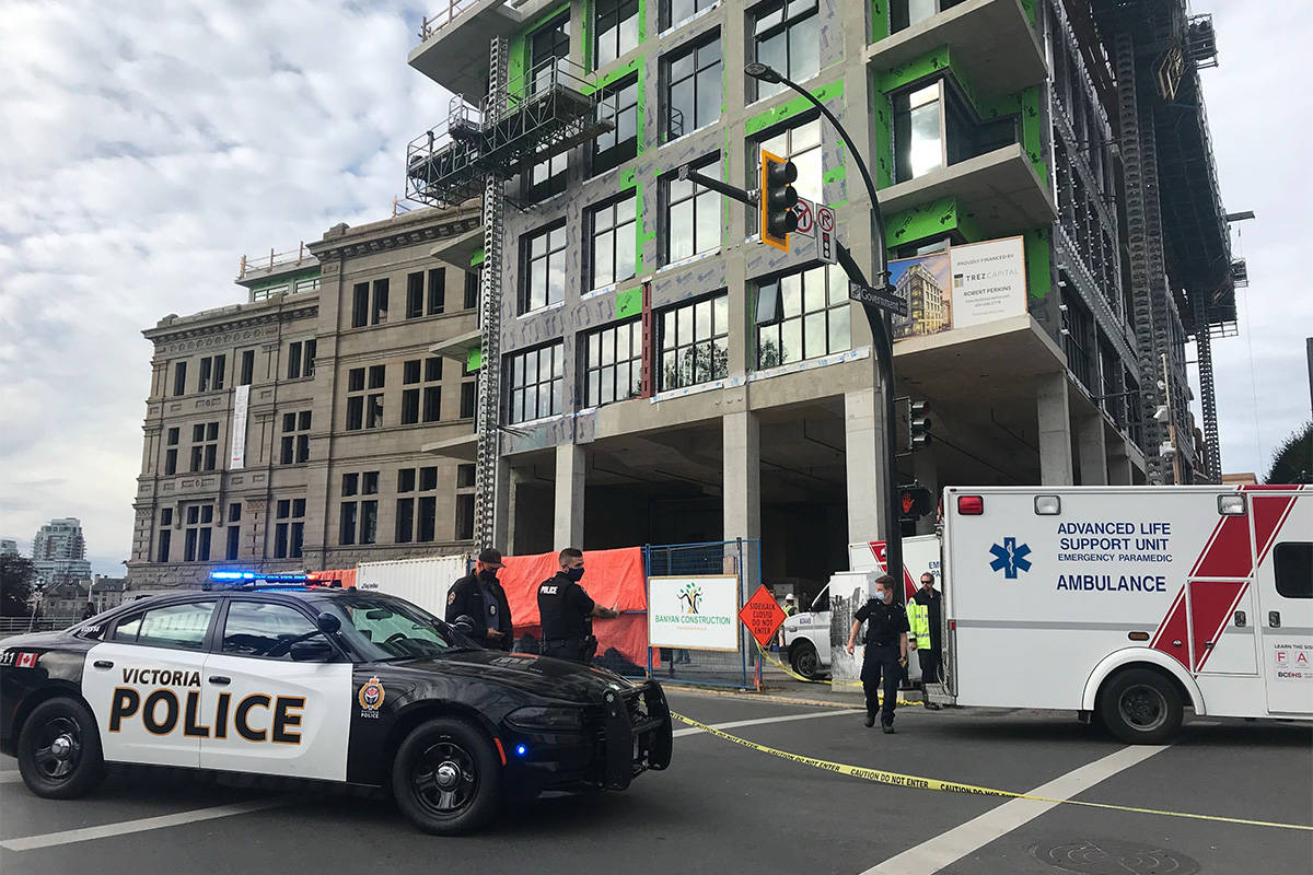 Worksafebc Investigating Death At Victoria Customs House Construction Site Saanich News