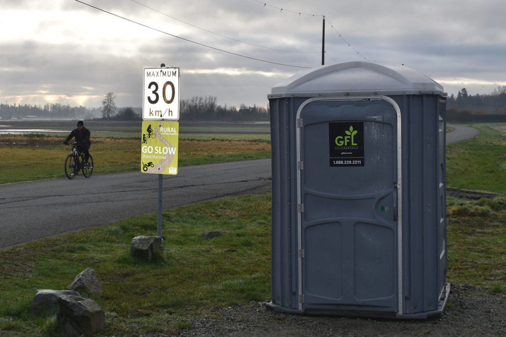 Central Saanich in talks with CRD about 'permanent' washroom facility near Lochside Trail - Saanich News