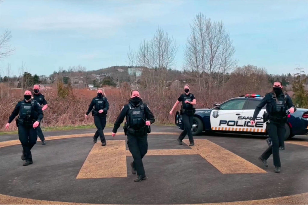WATCH: Saanich police, Victoria mayor bust some moves in new Dance Across Victoria video - Saanich News