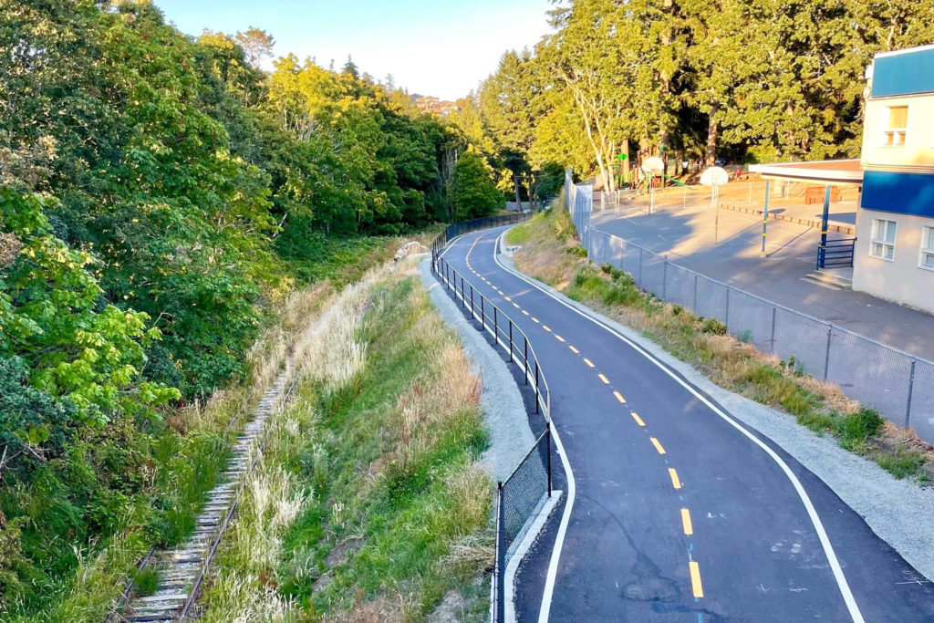 Completion of E & N Trail section in Langford creates continuous 13-kilometre route - Saanich News